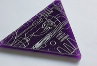 Engraved Perspex Triangle